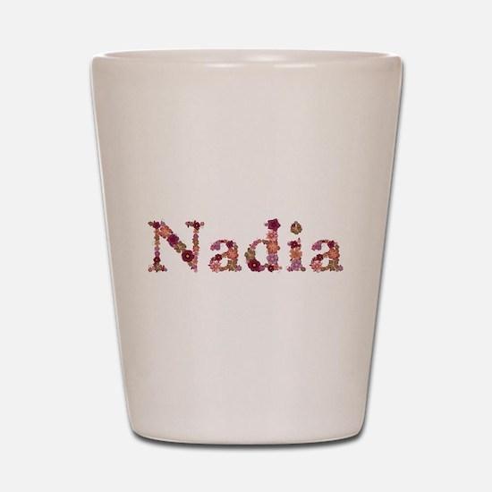 Nadia Pink Flowers Shot Glass