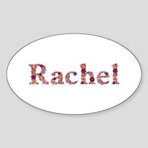 Rachel Pink Flowers Oval Sticker