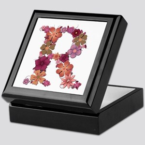 R Pink Flowers Keepsake Box