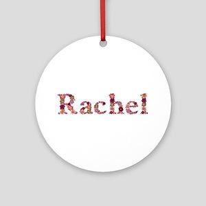 Rachel Pink Flowers Round Ornament