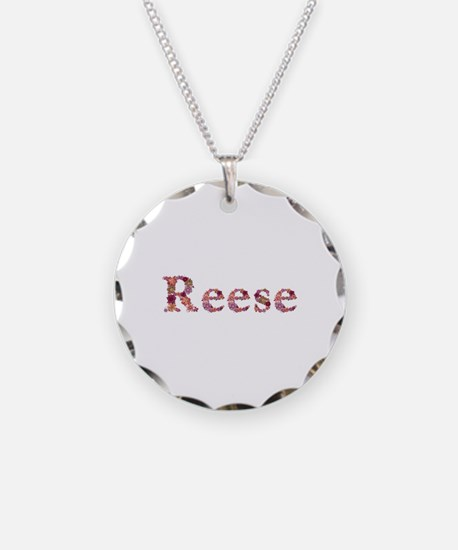 Reese Pink Flowers Necklace