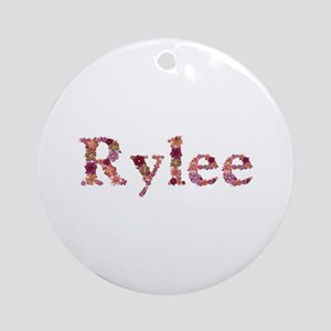 Rylee Pink Flowers Round Ornament