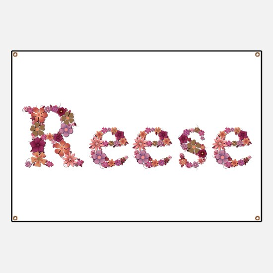 Reese Pink Flowers Banner