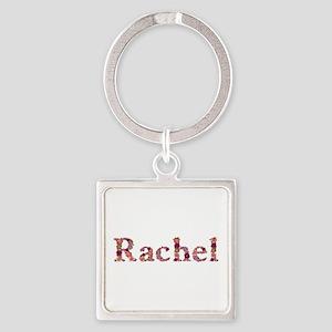 Rachel Pink Flowers Square Keychain