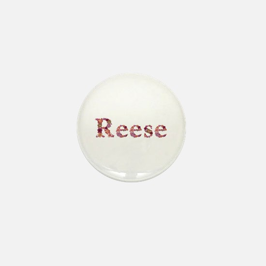 Reese Pink Flowers Mini Button