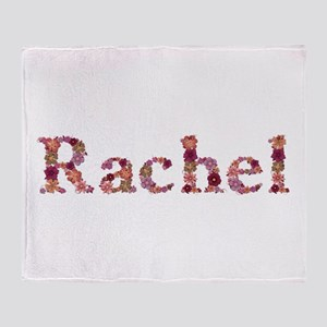 Rachel Pink Flowers Throw Blanket