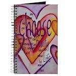 Love Hearts + Poem Words Journal