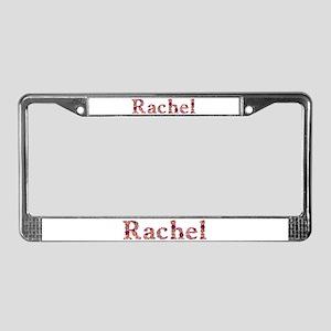 Rachel Pink Flowers License Plate Frame