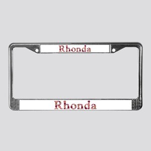 Rhonda Pink Flowers License Plate Frame
