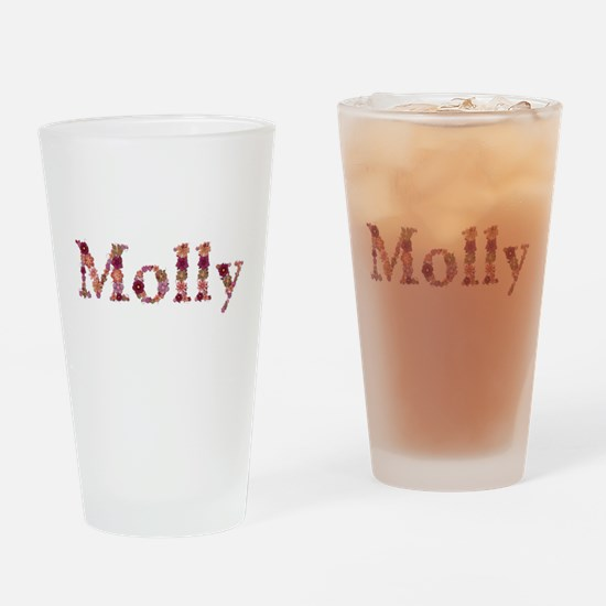 Molly Pink Flowers Drinking Glass