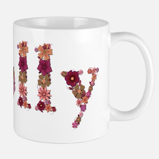 Molly Pink Flowers Mugs