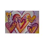 Love Hearts + Poem Word Rectangle Magnet (10 pack)
