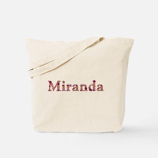 Miranda Pink Flowers Tote Bag