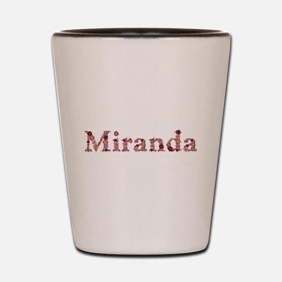 Miranda Pink Flowers Shot Glass