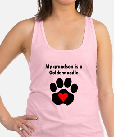 My Grandson Is A Goldendoodle Racerback Tank Top