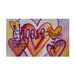 Love Hearts + Poem Words 35x21 Wall Decal