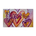 Love Hearts + Poem Words 20x12 Wall Decal