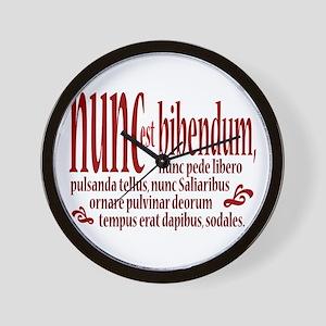 Nunc Est Bibendum Wall Clock