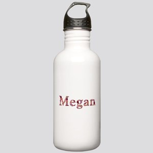 Megan Pink Flowers Water Bottle