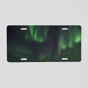 Northern Lights Aluminum License Plate