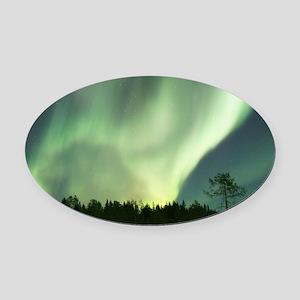 Northern Lights Oval Car Magnet