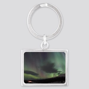 Northern Lights Landscape Keychain