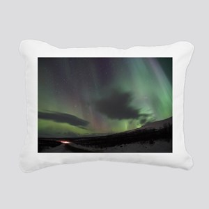 Northern Lights Rectangular Canvas Pillow