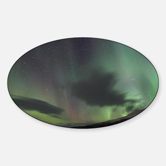 Northern Lights Sticker (Oval)