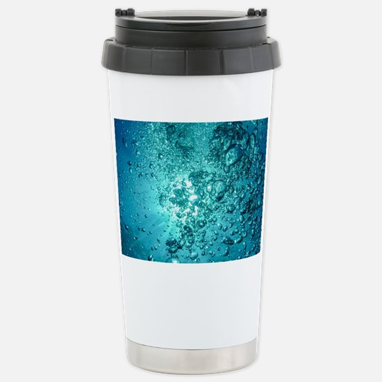 Blue Water Air Bubbles Stainless Steel Travel Mug