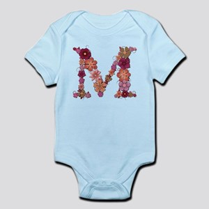 M Pink Flowers Body Suit