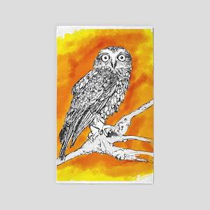Owl on Orange 3'x5' Area Rug