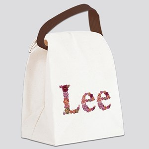 Lee Pink Flowers Canvas Lunch Bag
