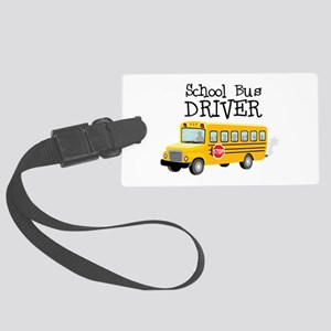 School Bus Driver Luggage Tag