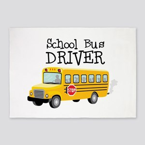 School Bus Driver 5'x7'Area Rug