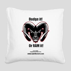 Dodge it! Square Canvas Pillow