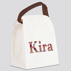 Kira Pink Flowers Canvas Lunch Bag