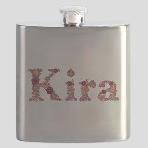 Kira Pink Flowers Flask