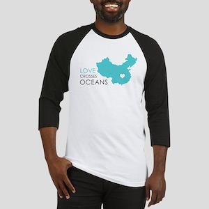 Love Crosses Oceans Baseball Jersey