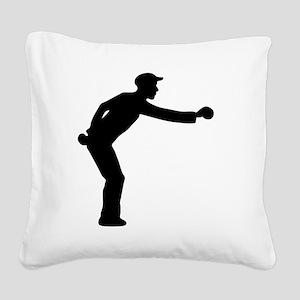 boules Square Canvas Pillow