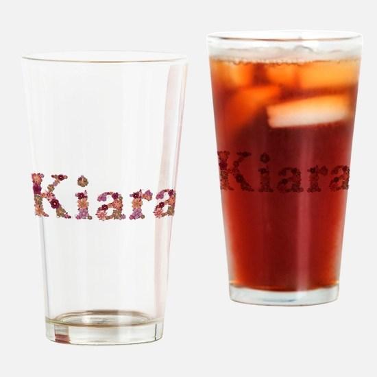 Kiara Pink Flowers Drinking Glass