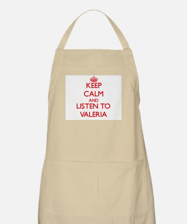 Keep Calm and listen to Valeria Apron