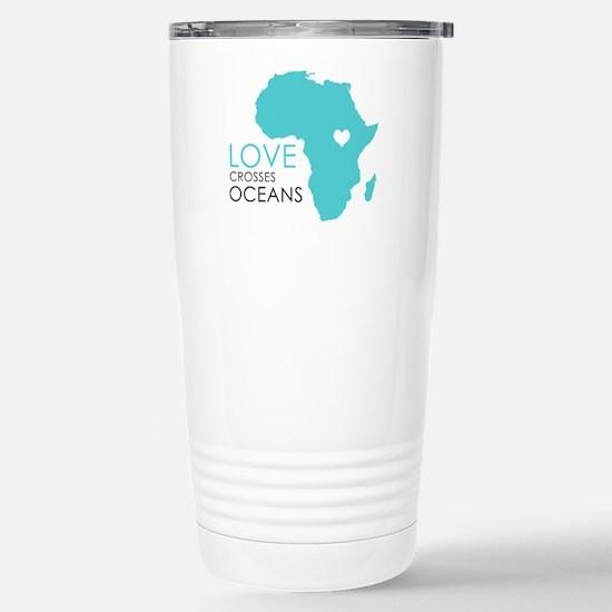 Love Crosses Oceans Travel Mug