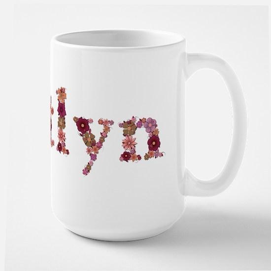 Kaitlyn Pink Flowers Mugs