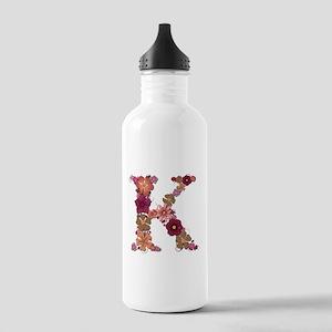 K Pink Flowers Water Bottle