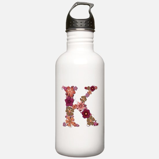 K Pink Flowers Water Bottle