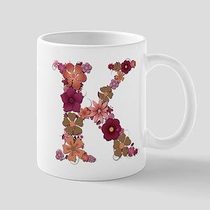 K Pink Flowers Mugs