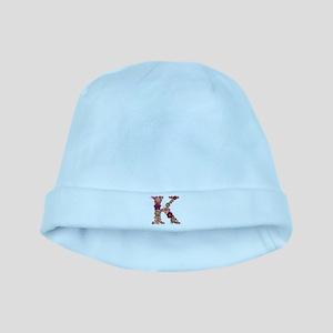 K Pink Flowers baby hat