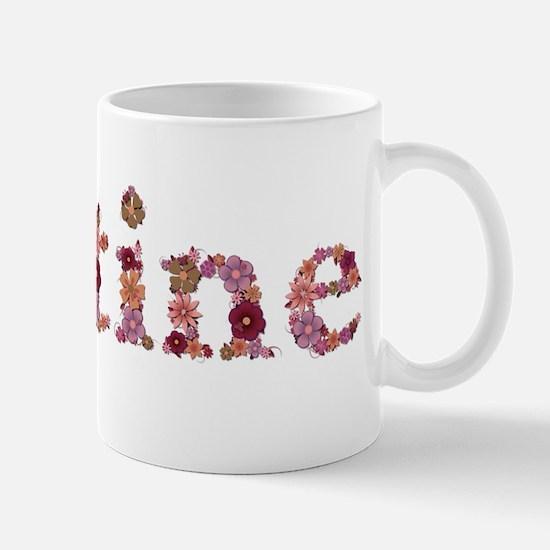 Justine Pink Flowers Mugs