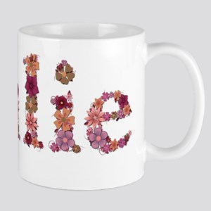 Julie Pink Flowers Mugs