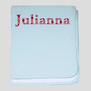 Julianna Pink Flowers baby blanket